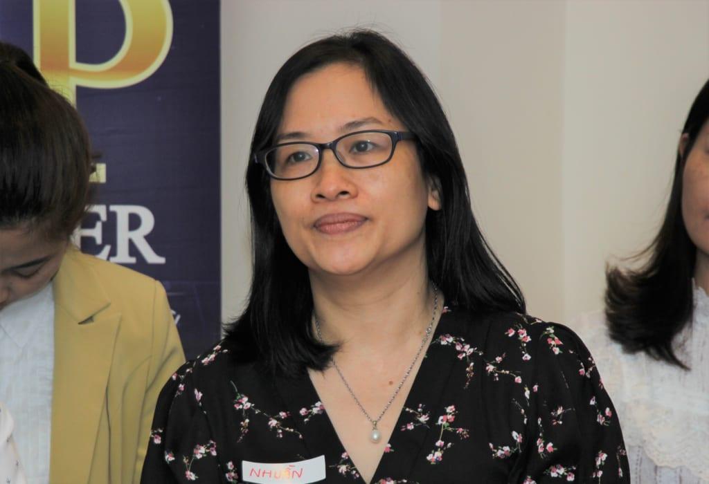 Học viên Nguyễn Thị Nhuần (Hà Nội), chủ doanh nghiệp dịch vụ cây xanh
